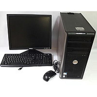 """Комплект б/у Системный блок + 17"""" монитор +клавиатура и мышка+все кабеля!"""