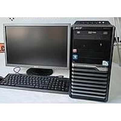 Комплект б/у Фирменный комплект Acer: ПК, монитор (с колонками), клавиатура и мышь