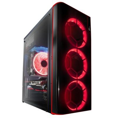 Корпус Frime VISION RED  LED