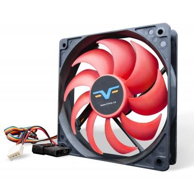 Вентилятор Frime FF120 PWM 2Ball Bearing Black/Red