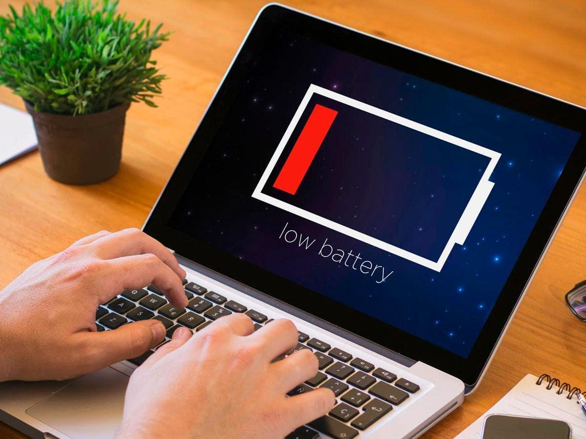 ноутбук быстро садится батарея